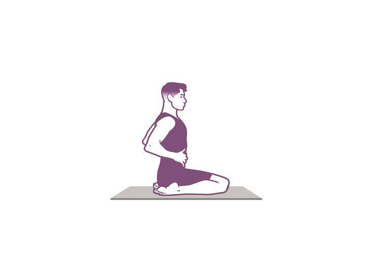 Postura sentada simple