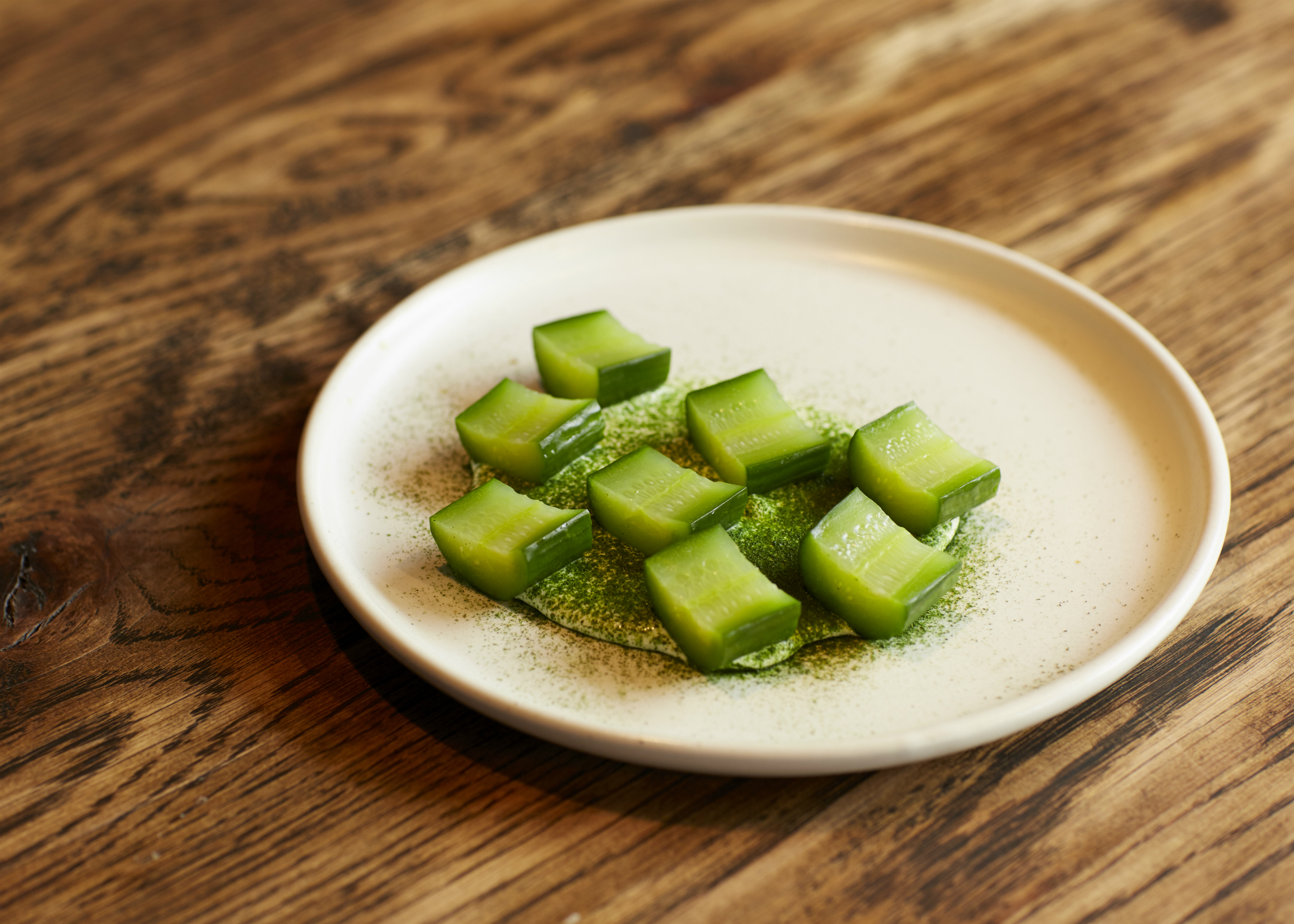 Soured cucumbers, dill, feta at Embla