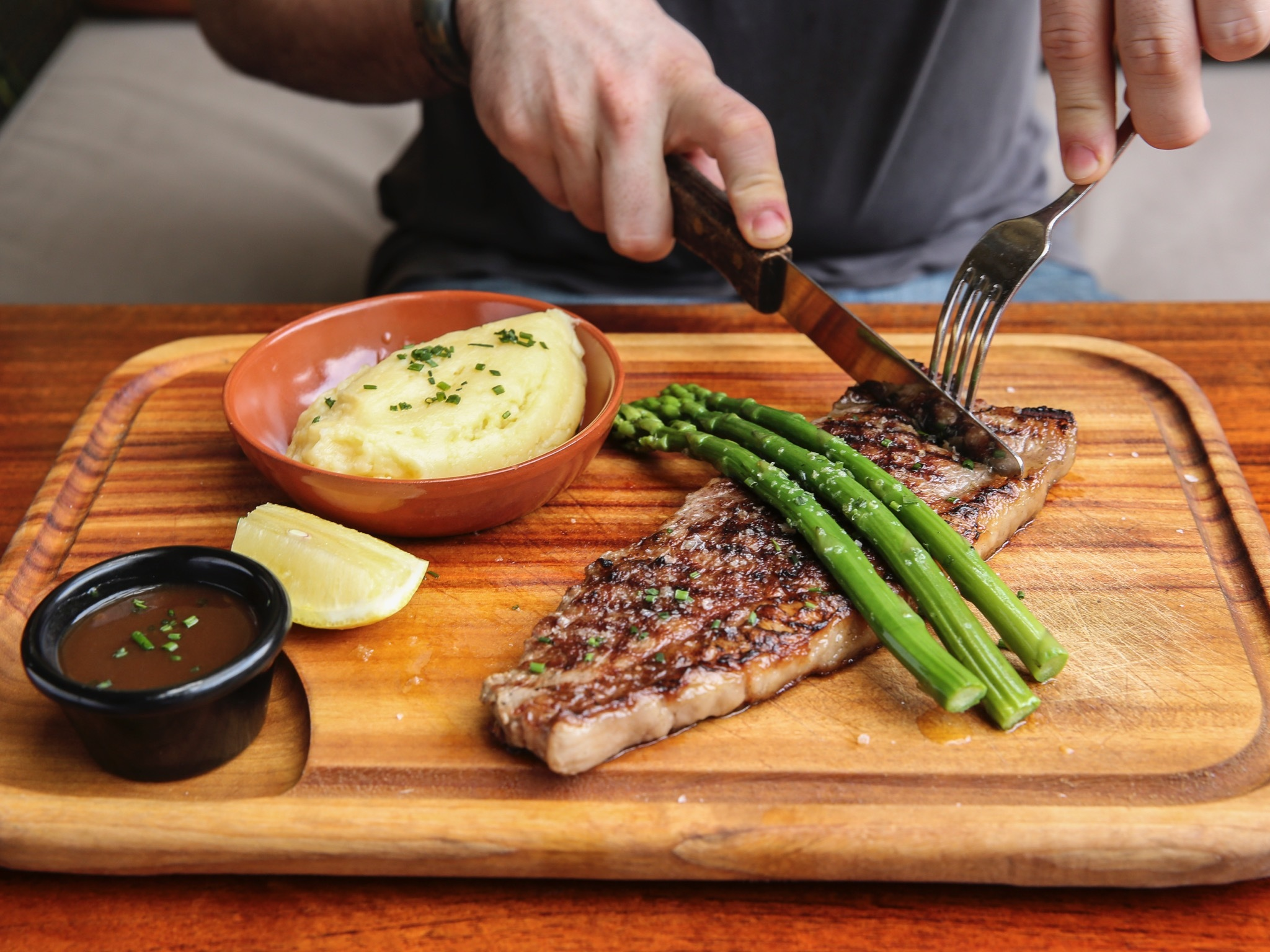 Rump steak at Dove and Olive, $19