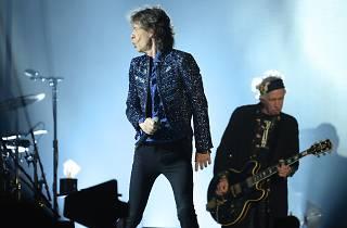 Jagger i Richards ahir a la nit a Montjuïc