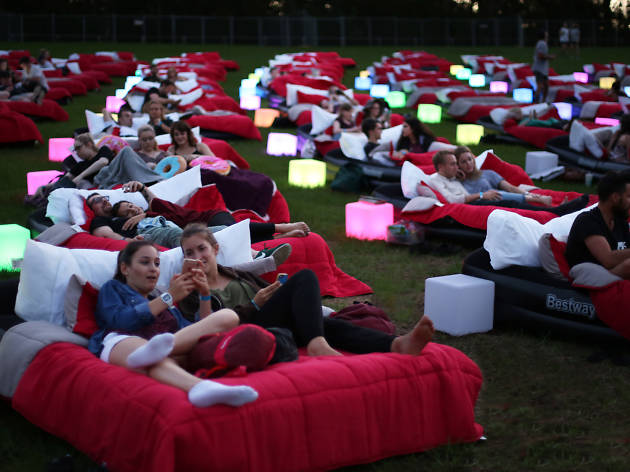This outdoor cinema in Sydney has beds, not seats