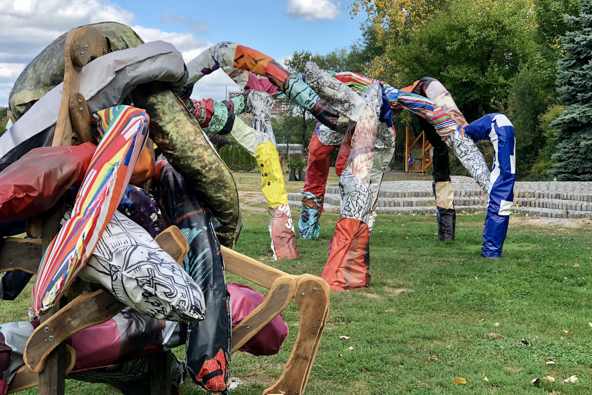 Check out a new set of incredible statues in Socrates Sculpture Park this weekend