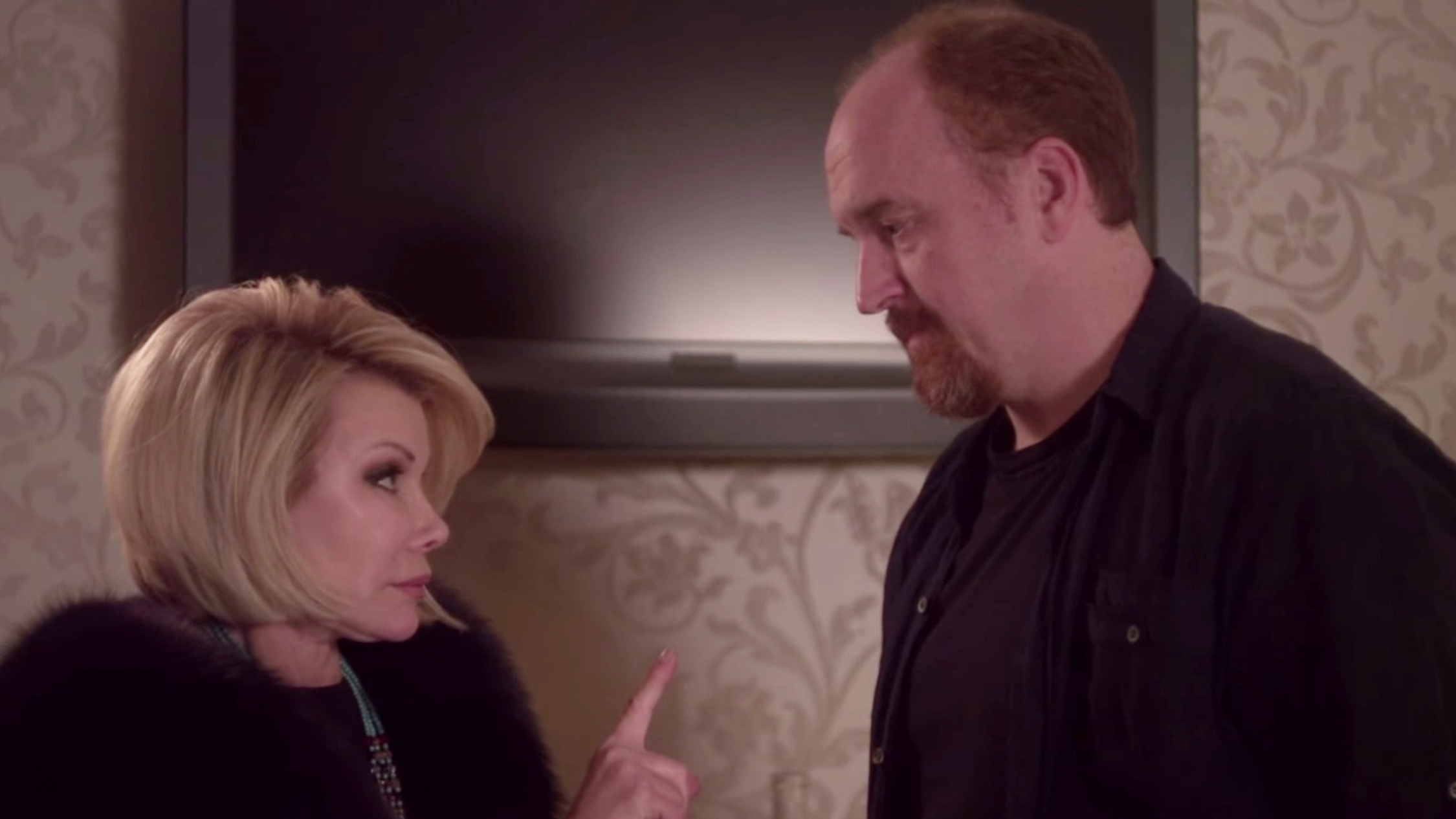 Louis CK and Joan Rivers in Louie