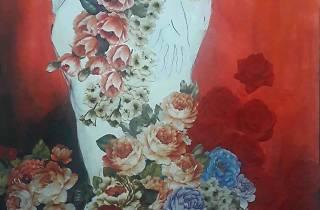 'Flower with woman' by Chamari Thapaswarage