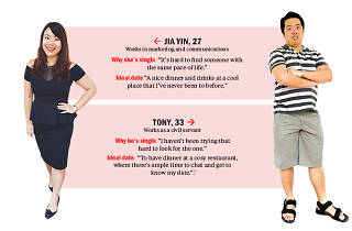Find me a date: Tony and Jia Yin
