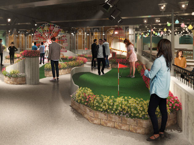 Swingers are opening a new seaside-themed crazy golf course in Oxford Circus