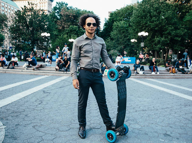 David Linton photographed in Union Square, New York City on September 25, 2017