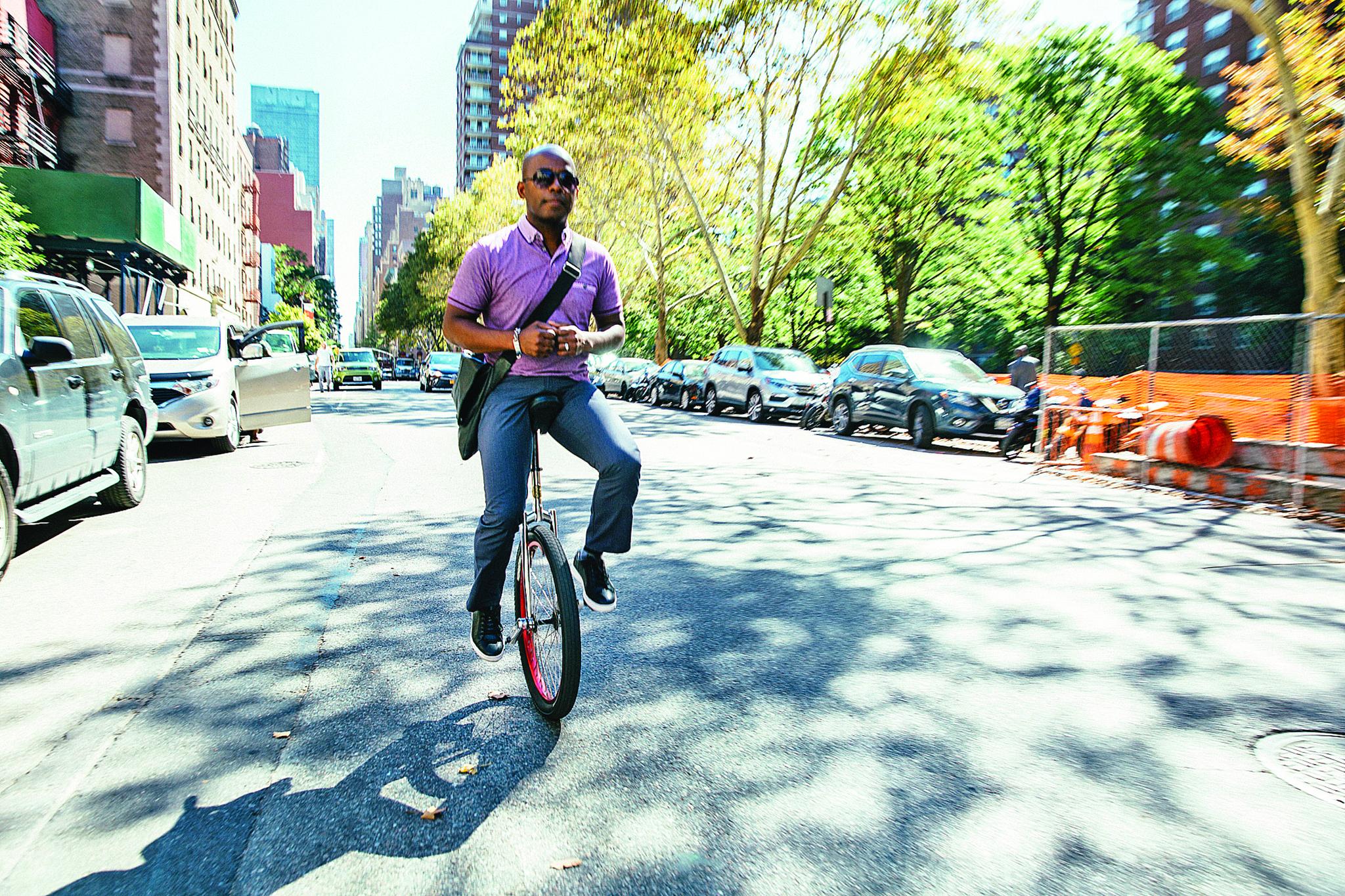 Kip Jones photographed in New York City on September 28, 2017