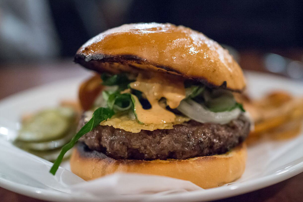 Secret burger at Alden & Harlow