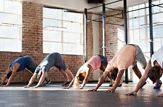 Yoga, class, hatha, fitness, asana, stretching