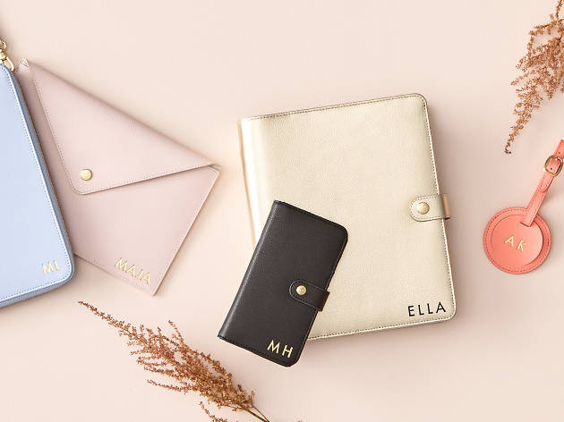 Leather diary and accessories