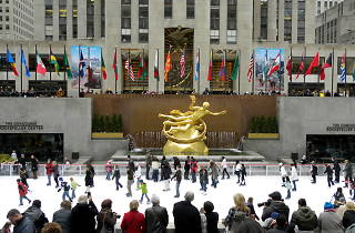 Go to the opening ceremony for The Rink at Rockefeller Centertoday