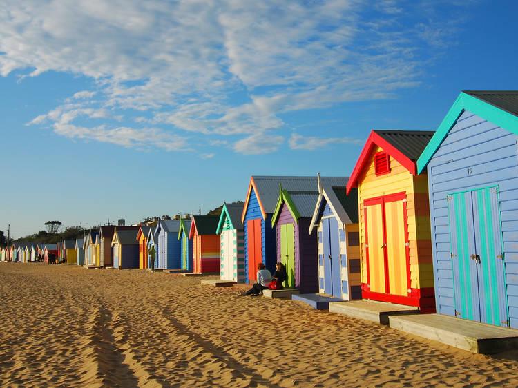 Go for a swim at Brighton Beach