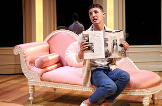Buyer and Cellar 2017 Ensemble Theatre production still 01 feat Ben Gerrard photographer credit Prudence Upton