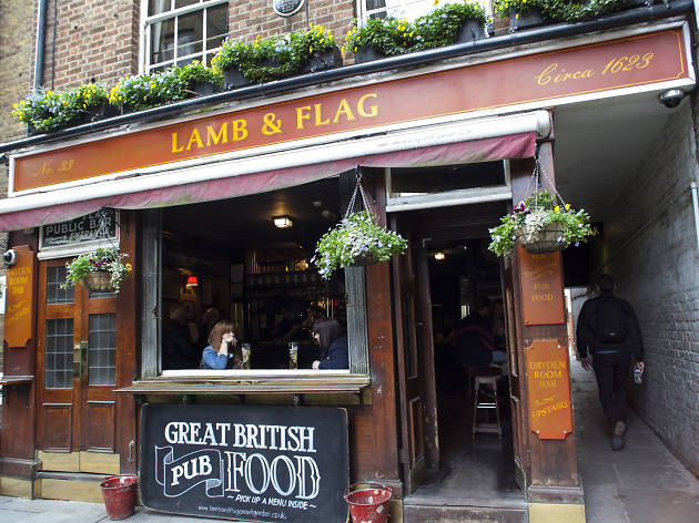 lamb & flag, best pubs in covent garden