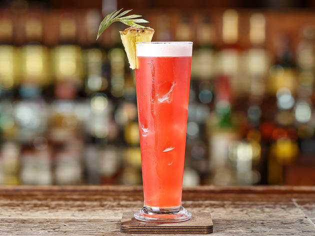 Generic alcoholic cocktail with gin - Singapore Sling