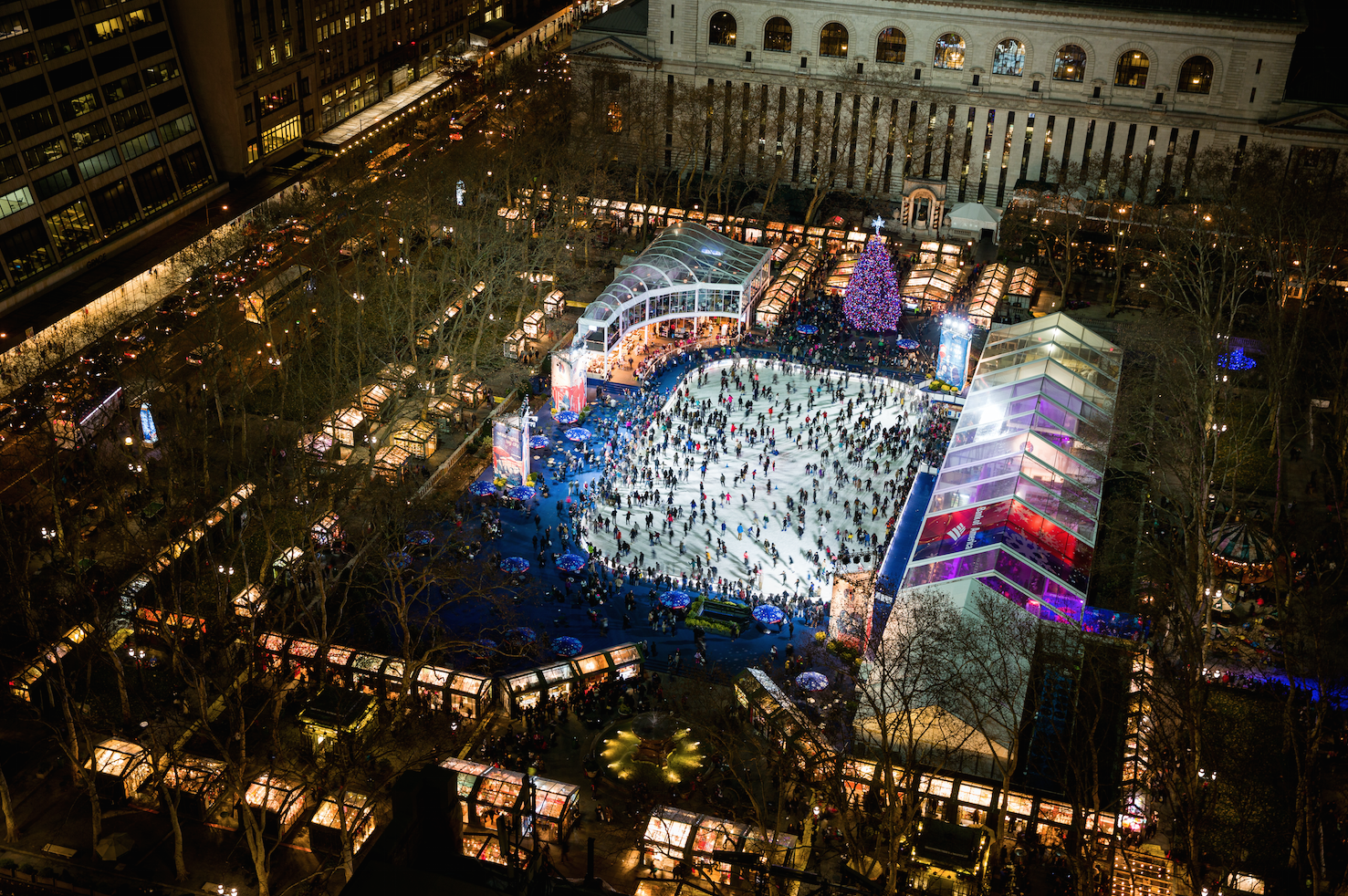 The Bank of America Winter Village at Bryant Park will open before Halloween