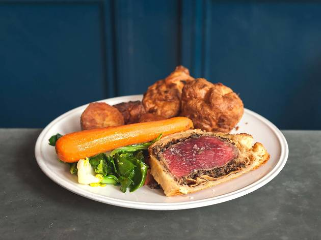 Beef wellington Sunday roast at The Green, Clerkwenwell