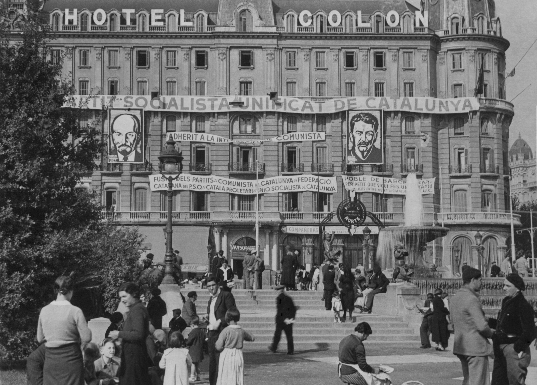 Seu del PSUC a l'hotel Colon l'any 1936