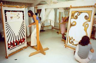 The Dinner Party, Needlework Loft, 1977.