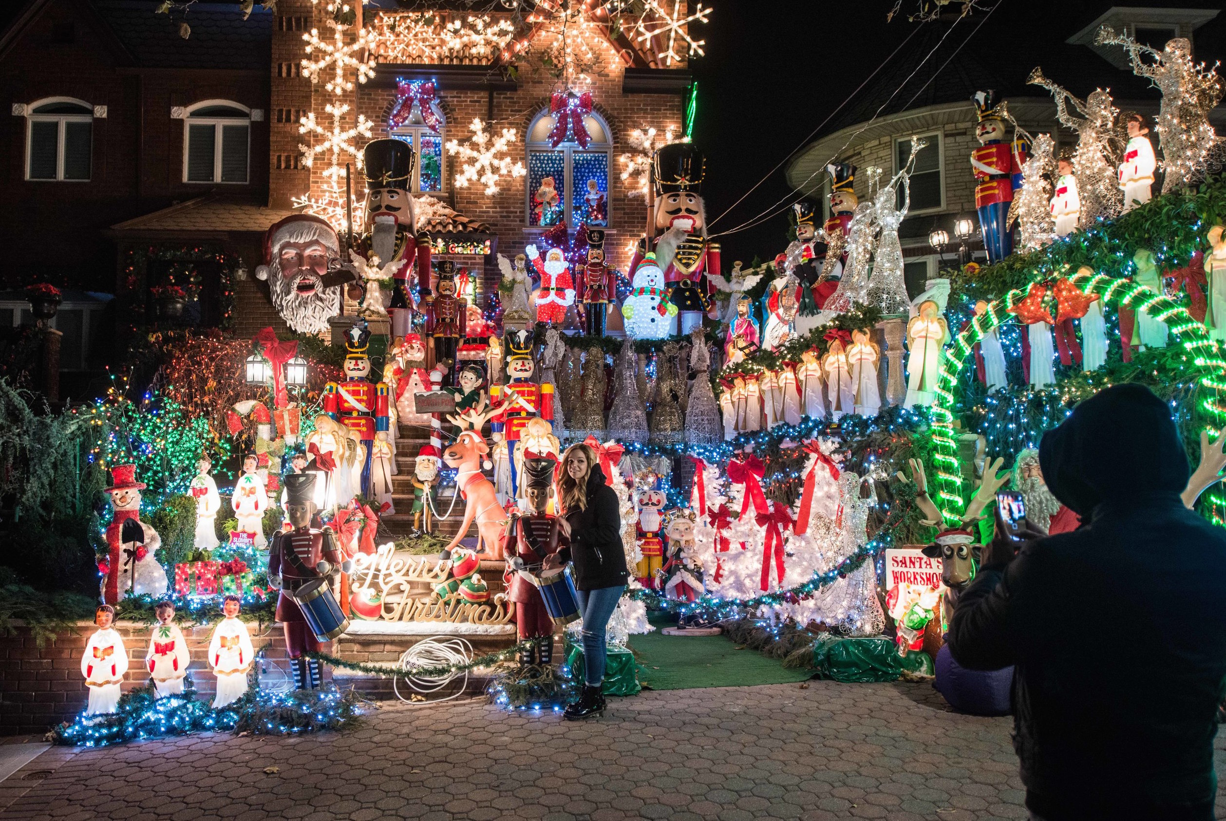 Dyker Heights Christmas lights house