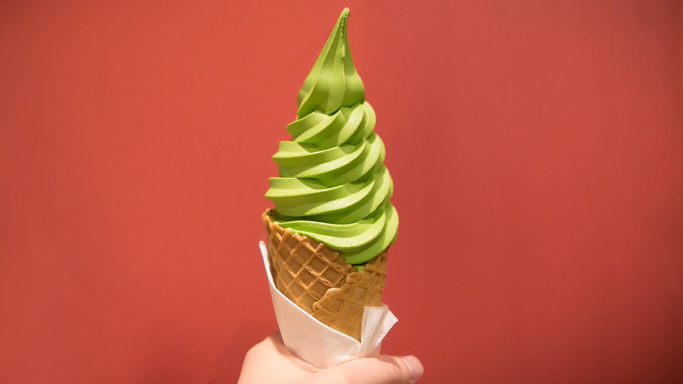 Green tea soft serve Chanoma