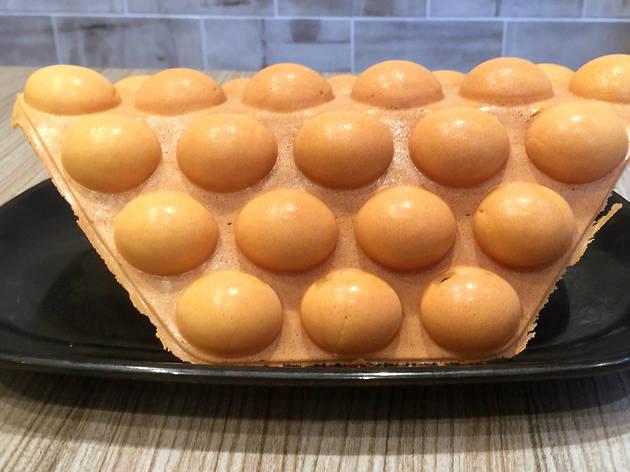 Egg waffle eggette egg puff
