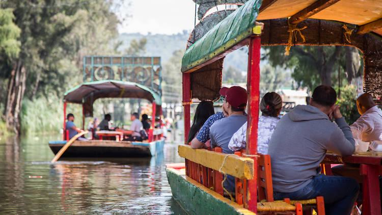 Cuemanco, Xochimilco, trajineras