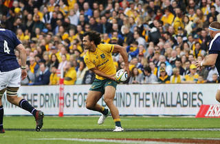 Karmichael Hunt playing for the Wallabies