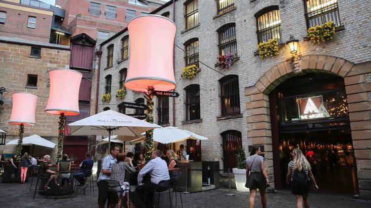 Outdoor eating area at The Argyle