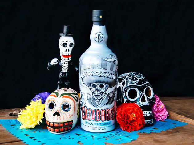 The Mister Cartoon-designed Día de los Muertos bottle for Tequila Cazadores