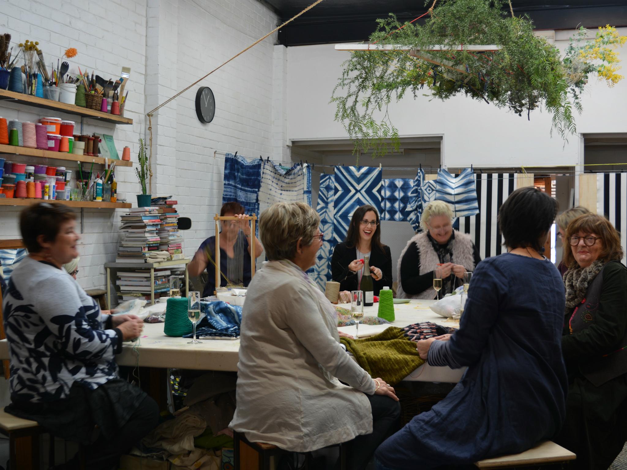 Craft workshop at the Happenstore