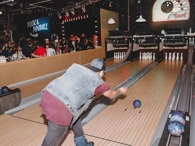 man bowling at The Standard Bowl