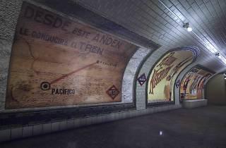 Antiguo vestíbulo de la estación de metro Pacífico