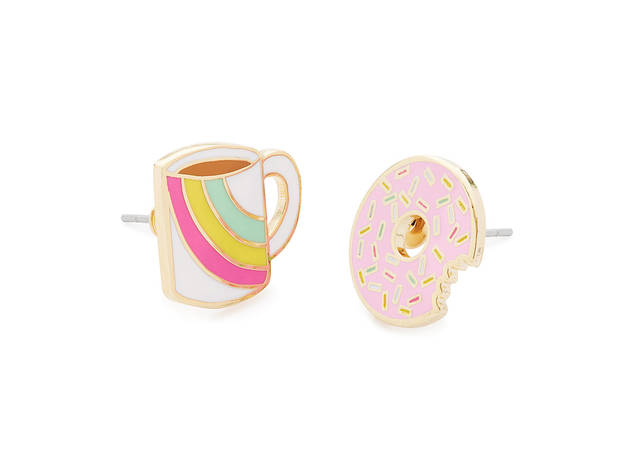 Coffee and Donut Earrings from Uncommon Goods
