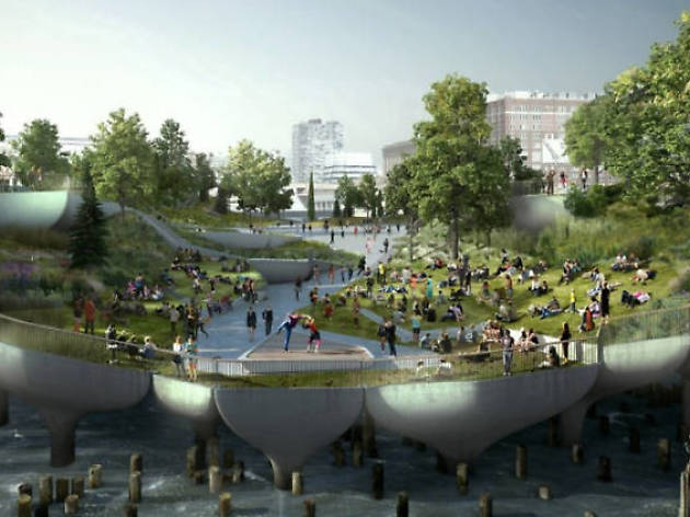The plan for the floating park on the Hudson is back on