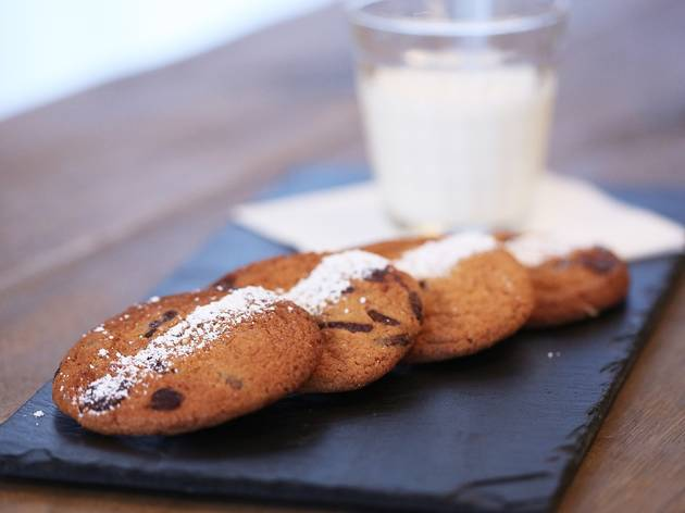 Cookies and milk at The Grain Store
