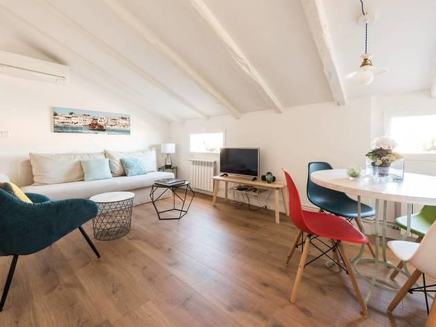 Open-plan loft apartment