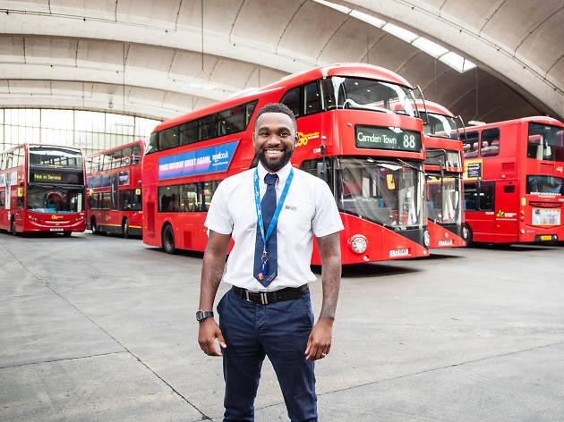 Pierre Lansiquot, London bus driver