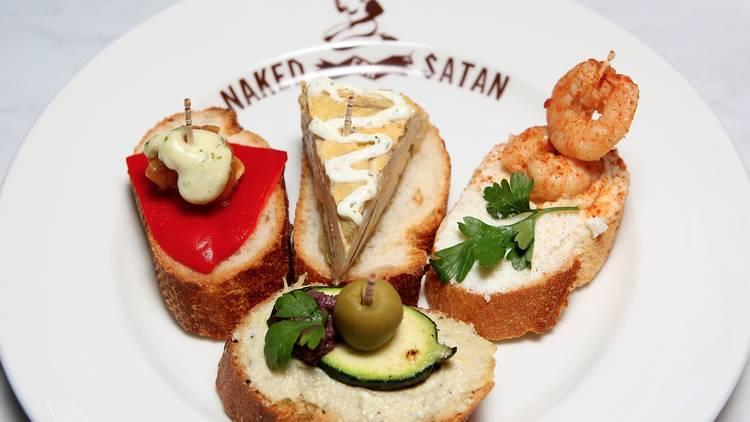 Food at Naked for Satan
