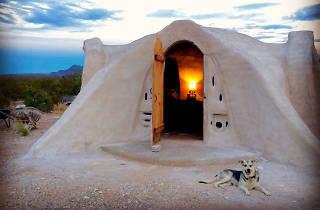 Adobe dome in Terlingua, TX