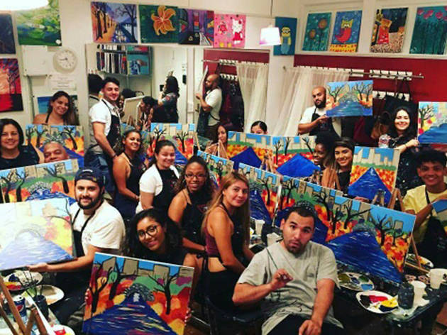 8 Of The Best Paint And Sip Classes In Nyc