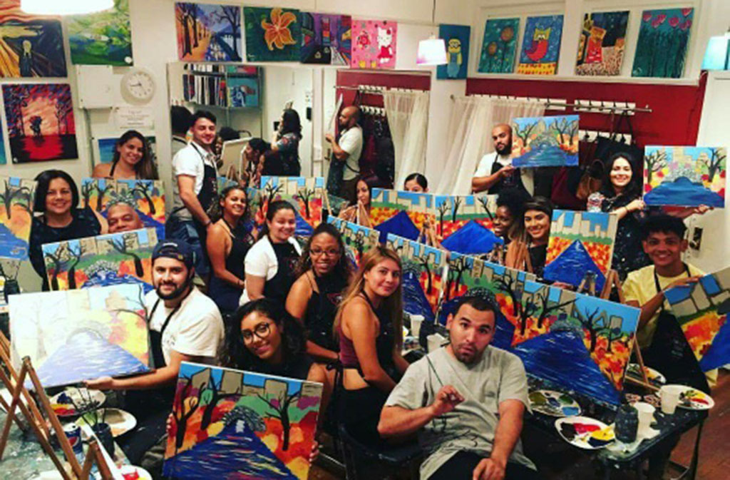 Byob painting nyc groupon for Painting with a twist greenville sc