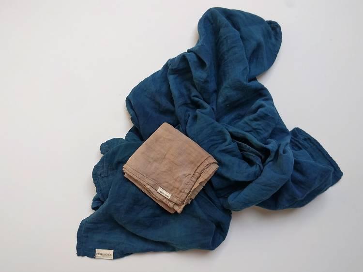 Dear Indigo scarf and bandana, $100