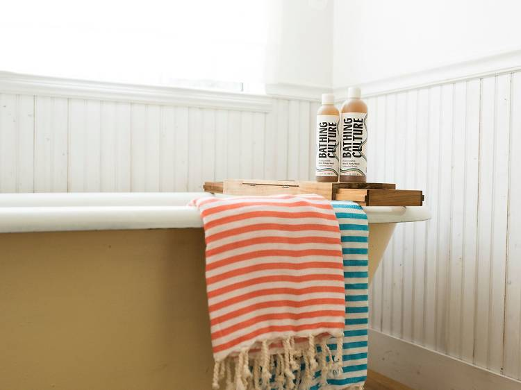Mind and Body Wash with set of Turkish bath towels from Bathing Culture, $60