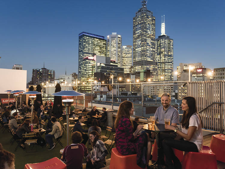 Have a gravity-defying drink up at Rooftop Bar