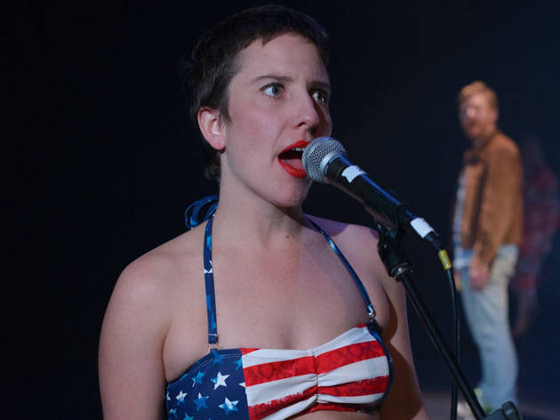 Virgins and Cowboys 2015 FLIGHT Festival of New Writing at Theatre Works production still 01 feat Penelope Harpham photographer credit Lachlan Woods