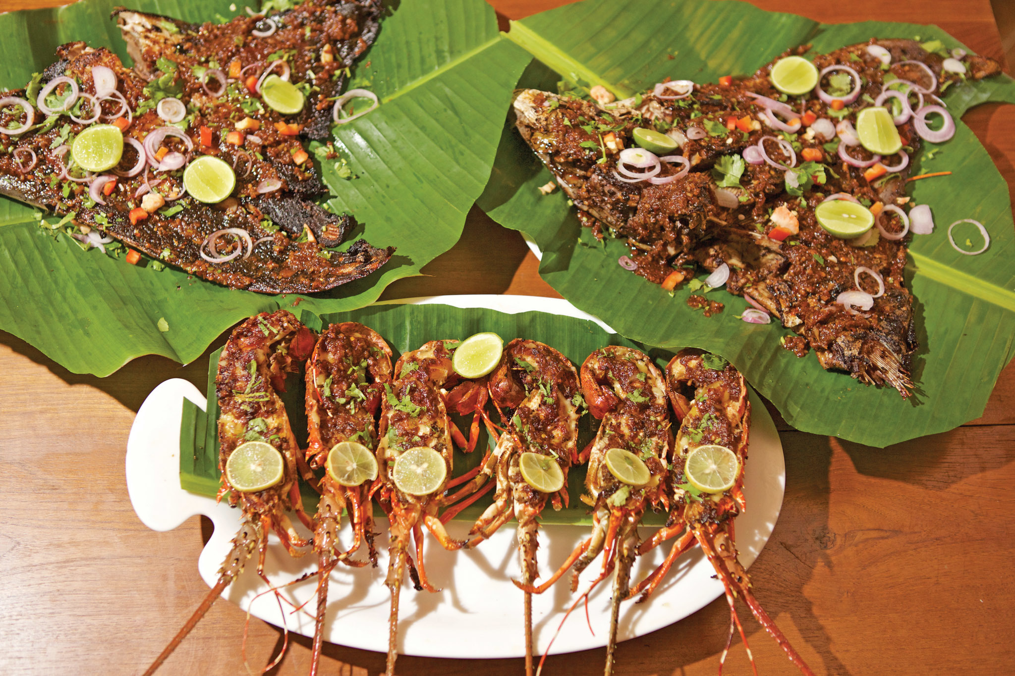 Savour delicious seafood in the island,