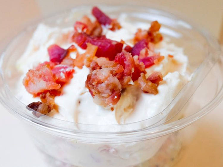 Bacon, egg and cream cheese at Becky's Bites