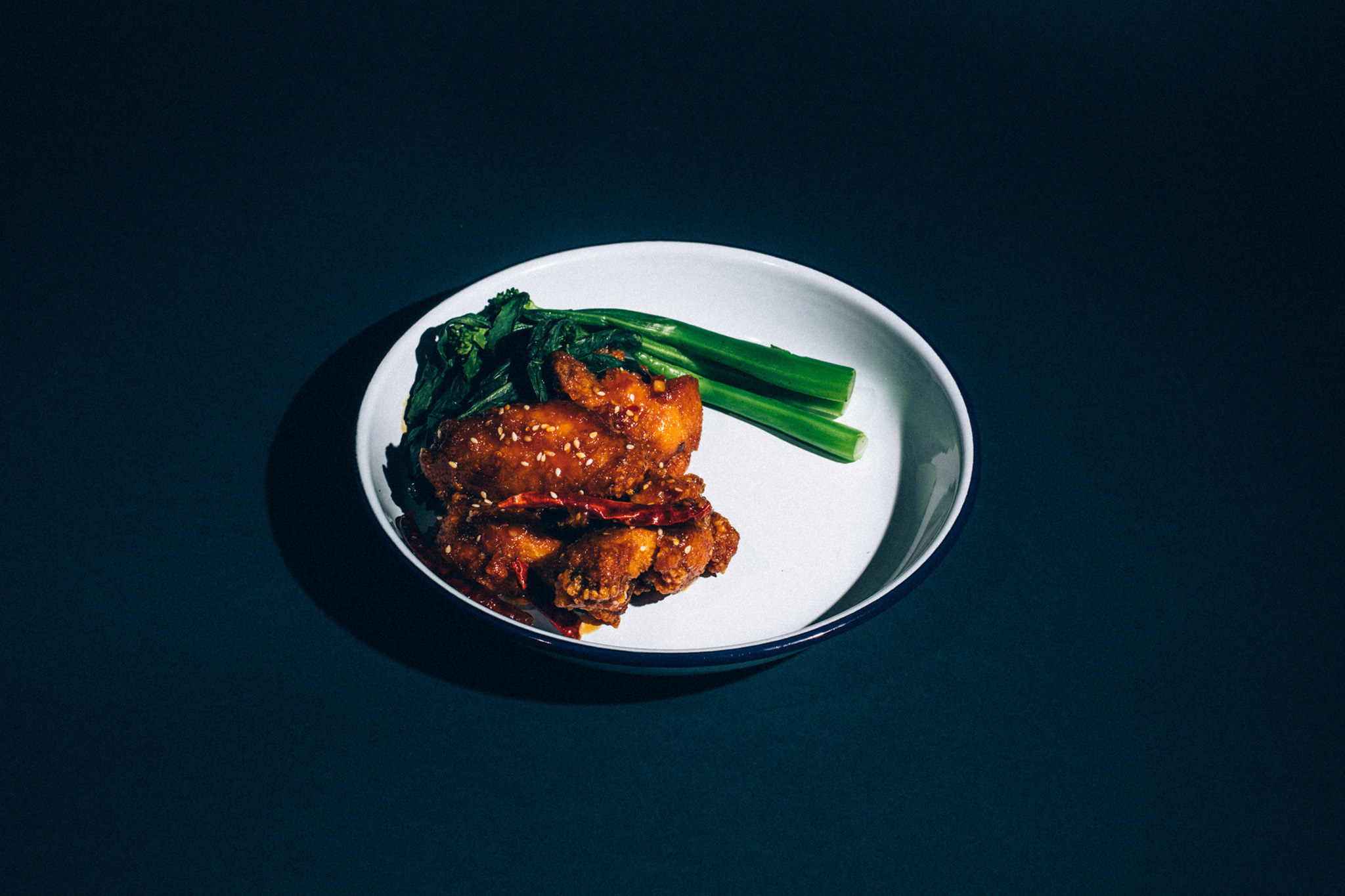 General Tso's chicken wings at Atlantic Social